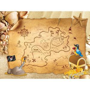 Image 2 - Funnytree הרפתקאות צילום פיראטים רקע סירת קוקוס עץ קיץ ספינה עץ יום הולדת רקע מסיבת שיחת וידאו photozone