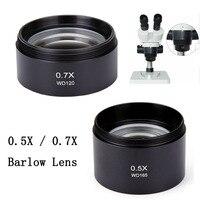 0 5X0 7 X Barlow Objektiv Stereo Mikroskop Hilfs Objektiv Barlow Objektiv Fernglas Trinocular Mikroskop Teile