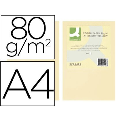 PAPER COLOR Q-CONNECT DIN A4 80GR CREAM PACK 500 SHEETS