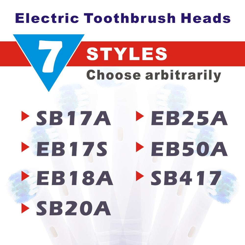 4/8pc Replacement Toothbrush Heads For Oral B Cross Floss Action Precision Soft Bristle Electric Tooth Brushes Head 3D Precision