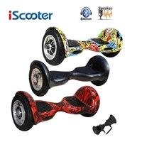 Iscooter Hoverboard 10 Inch Bluetooth 2 Wiel Zelf Balanceren Elektrische Scooter Twee Smart Wiel Met Sleutel Met Afstandsbediening En Led Skateboard|Zelfbalancerende scooters|sport & Entertainment -