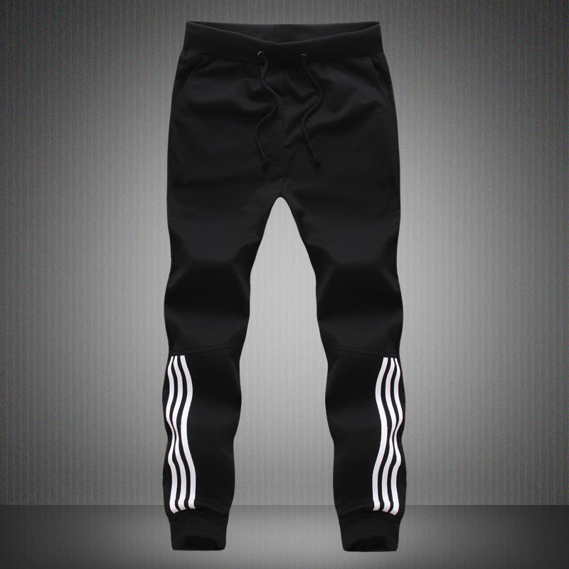 Spring Summer Mens Pants Fashion Skinny Sweatpants Mens Joggers Striped Slim Fitted Pants Gyms Clothing Plus Size 5XL Harem Pant 3