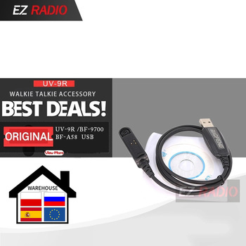 Original Programming Cable for Baofeng Waterproof Walkie Talkie UV-9R Plus UV-XR BF-A58 BF-9700 GT-3WP UV-5S - discount item  40% OFF Walkie Talkie