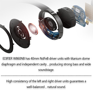 Image 4 - EDIFIER W860NB Bluetooth Earphone Active Noise Canceling ANC Bluetooth 4.1 Touch Control Double Mic Support aptX for xiaomi IOS