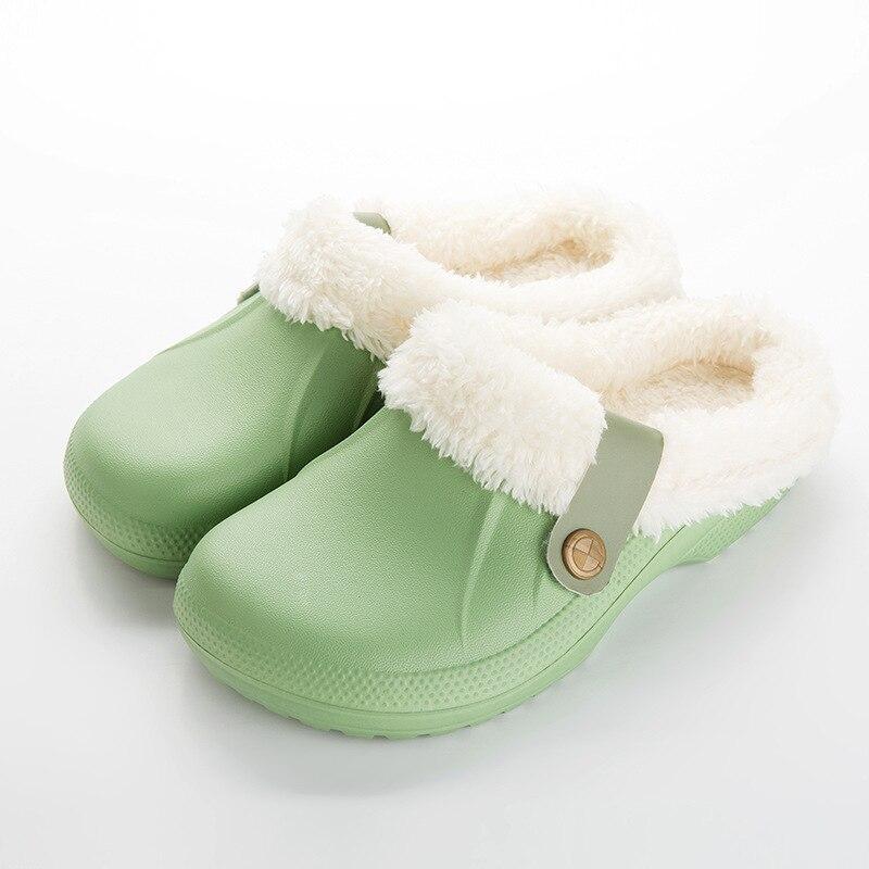 H200d90a64d01427d94b95dbcfe14c205G Pantufa chinelos masculinos de couro, de alta qualidade, de pu, para inverno, de pelúcia, curto, salto plano, quente, para área interna