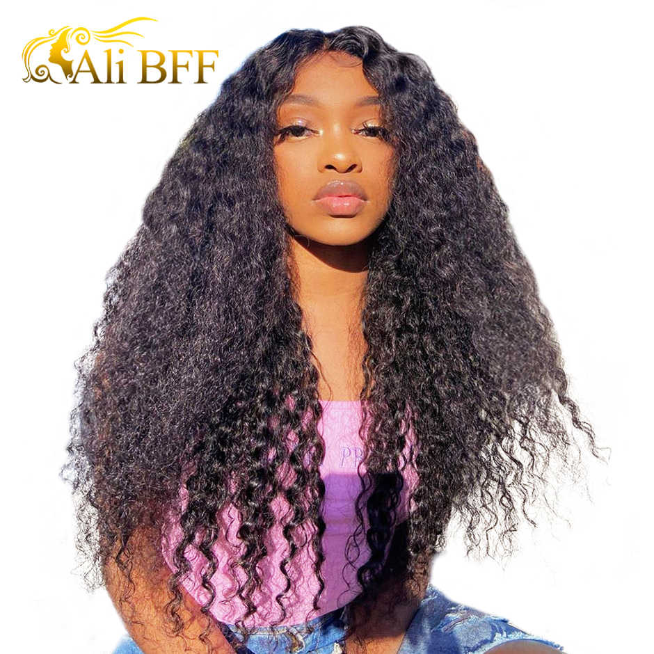 Water Wave HD Transparent Lace Wigs For Women Pre plucked ALI BFF HAIR HD Lace Front Wig Water Wave Lace Front Human Hair Wigs
