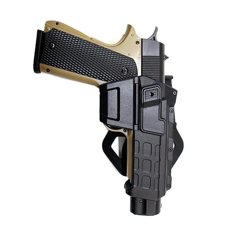 Тактическая кобура для пистолета Glock 17 Colt 1911, подвижная поясная кобура для страйкбола с фонариком, чехол для пистолета с лазерным креплением