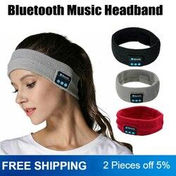 Sans fil Bluetooth musique bandeau casque magique écouteur micro chapeau homme femmes mains libres sport appel téléphonique réponse oreilles-gratuit