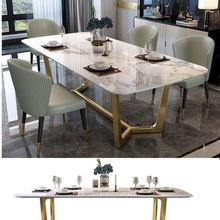 Furniture Dining-Table-Set Marble Luxury New 6 Modern