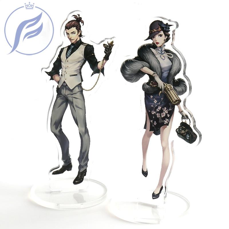 FANGQINGMAO 7cm  Customized Shaped  Custom Acrylic Stand Figure Morder Anime Character Acrylic Stand Figure Desktop Decoration