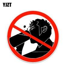 YJZT – autocollants de voiture 11x11CM, panneau d'avertissement, pour les ban sur l'alcool, accessoires, C30-0263