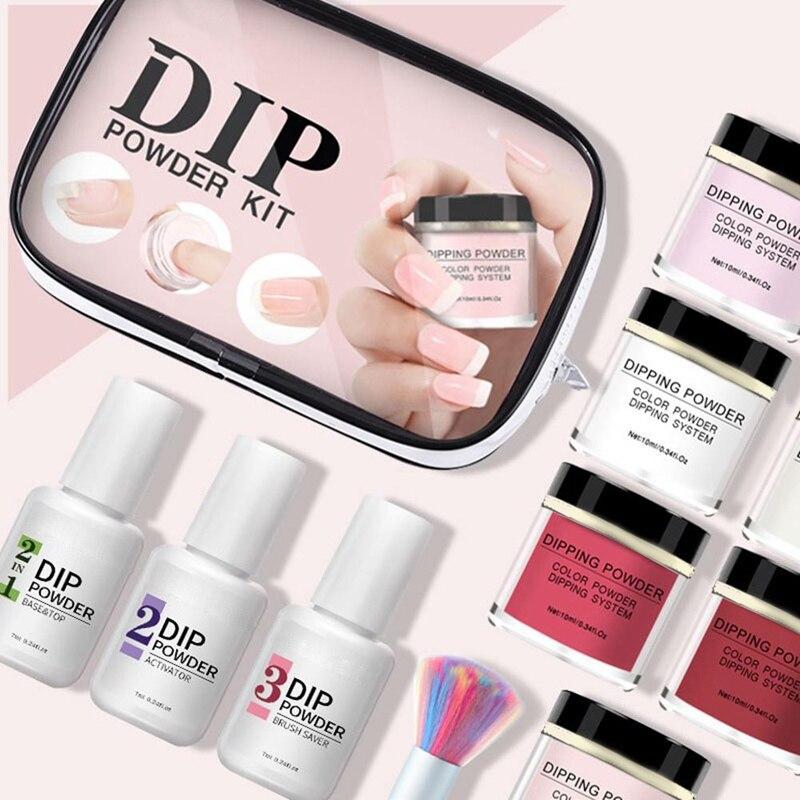 2020 moda manicure em po terno glitter dip po unhas manicure gel unha polones cromo pigmento