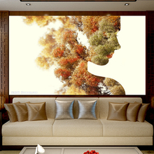 RELIABLI ART Abstract Art Woman Landscape Pictures Canvas Painting Wall For Living Room Modern Decoration Posters No Frame