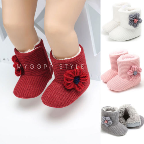 Pudcoco Infant Toddler Baby Girls Boots Boys Kids Winter Thick Snow Boots Fur Shoes