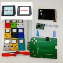 Carcasa precortada para GameBoy DMG GB, 8 modelos coloridos, tamaño completo, pantalla LCD retroiluminada