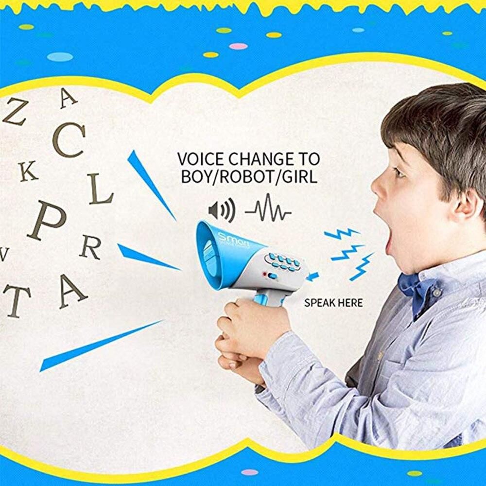 Vocal Toys Child Sound Changer Creative Funny Voice Speaker Change Channel Multichannel Funny Handheld Loudspeaker DIY Song Kid
