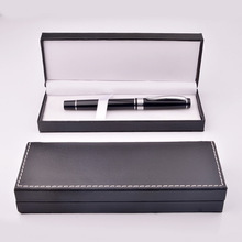PU leather gift pen box business gift pen fountain pen creative stationery storage box