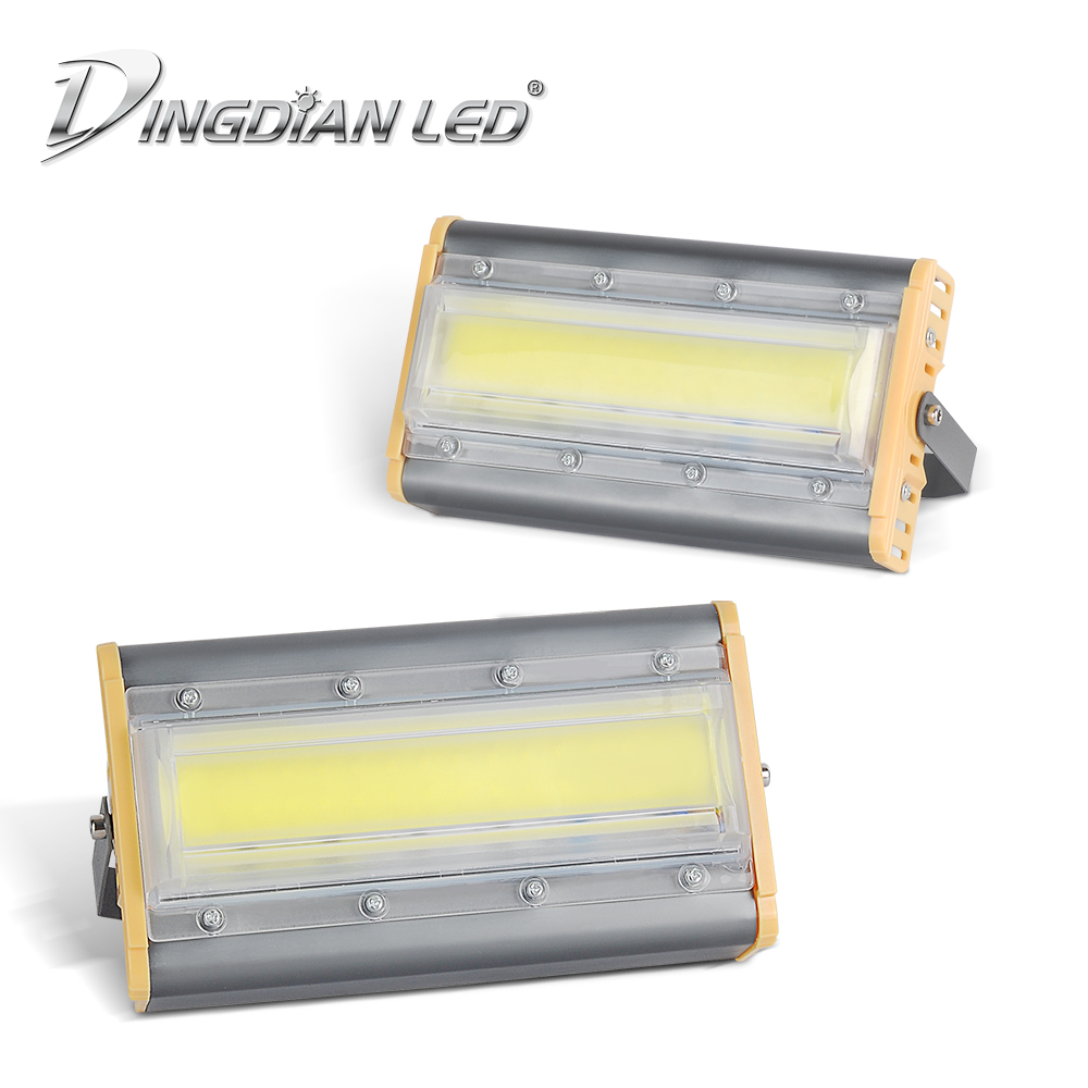 50W Outdoor Floodlight LED Flood Light AC220V COB Projector Reflector Lamp Waterproof Spotlight Construction Lamp Cast Lighting