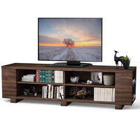 59 Console Storage Entertainment Media Wood TV Stand HW60170