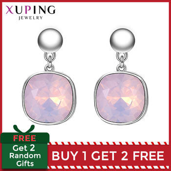 Xuping Square Earrings Crystals from Swarovski Luxury Vintage Style Jewellery Women Girl  Valentines Day Gifts M94-20493