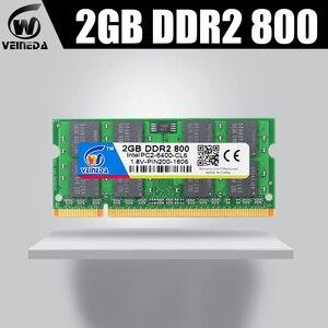 VEINEDA оперативная память Sodimm DDR2 2 ГБ 800 МГц ddr2 ноутбук 2 Гб 667 МГц для всех Intel amd mobo поддержка ram ddr2 ноутбук 2 Гб pc533