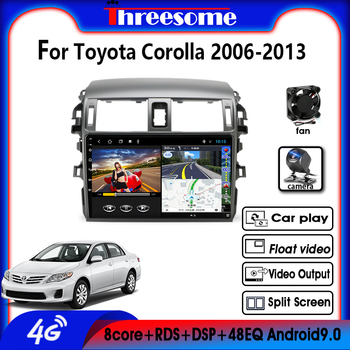 цена на Android9.0 4G NET  2 DIN 4G+64G GPS Navigation RDS Car Radio Multimedia Player For Toyota Corolla E140/150 2006-2013 AutoStereo