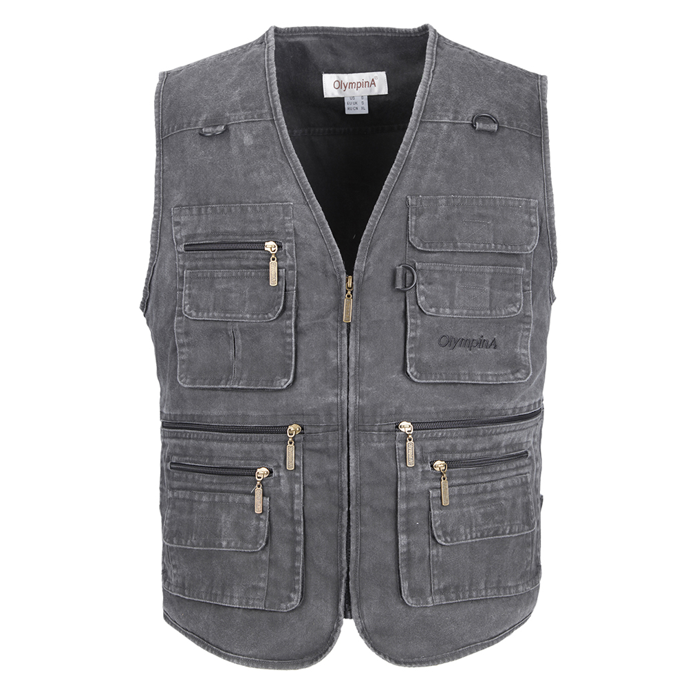 Closeout DealsFishing-Vest Sleeveless Jacket Many-Pockets 10XL Plus Outdoors Big-Size Waistcoat Male