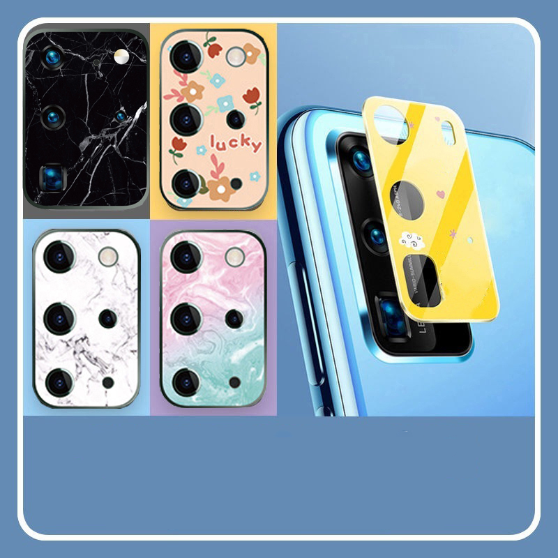 S20 Ultra Plus 3D Cartoon Tempered Glass Camera Protector Screen Protectors For Samsung Galaxy S20+ Lens Protection Marble Cover