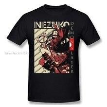 Kimetsu No Yaiba t-shirty dla mężczyzn Nezuko Demon Slayer śmieszne mężczyźni bawełniana koszulka Anime Tees Harajuku Streetwear
