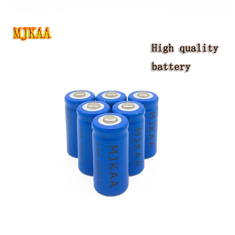 16 PCS Factory Price <font><b>3.7V</b></font> <font><b>1000MAH</b></font> Cr123a 16340 <font><b>Battery</b></font> Lithium Ion Rechargeable <font><b>Battery</b></font> for Laser Pointer LED Flashlight <font><b>Battery</b></font> image