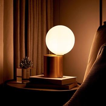 Zerouno led table lamp hotel room loft decoration desk lamp aluminum glass ball lamp 100-240v e14 3w led bulb modern table light