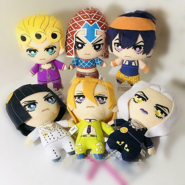 NEW Jojos Bizarre Adventure Giorno Narancia Mista Buccellati Abbacchio Fugo Stuffed Plush Toy Doll New