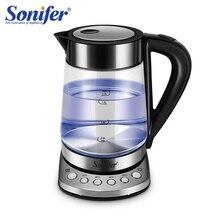 1.7L 온도 조절기 전기 주전자 유리 투명 2200W 가정용 빠른 가열 전기 끓는 냄비 Sonifer