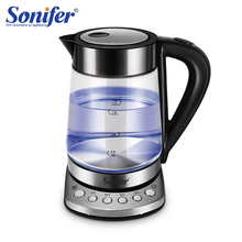 1.7L température cControl bouilloire électrique verre Transparent 2200W ménage chauffage rapide électrique bouillant Pot Sonifer