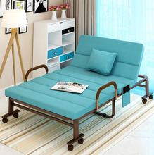 Folding Bed Chair for Home Office Hospital Relaxing Sleeping Accompany Portable Bed Lazy Lounge Chair Sofa with Wheels цены онлайн