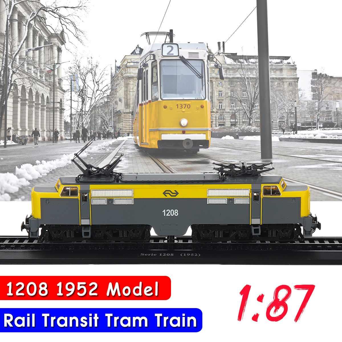 1:87 HO Car Model Retro Transit Tram 3D Display Model Series 1208(1952) Train Resin Model Collectible Toys