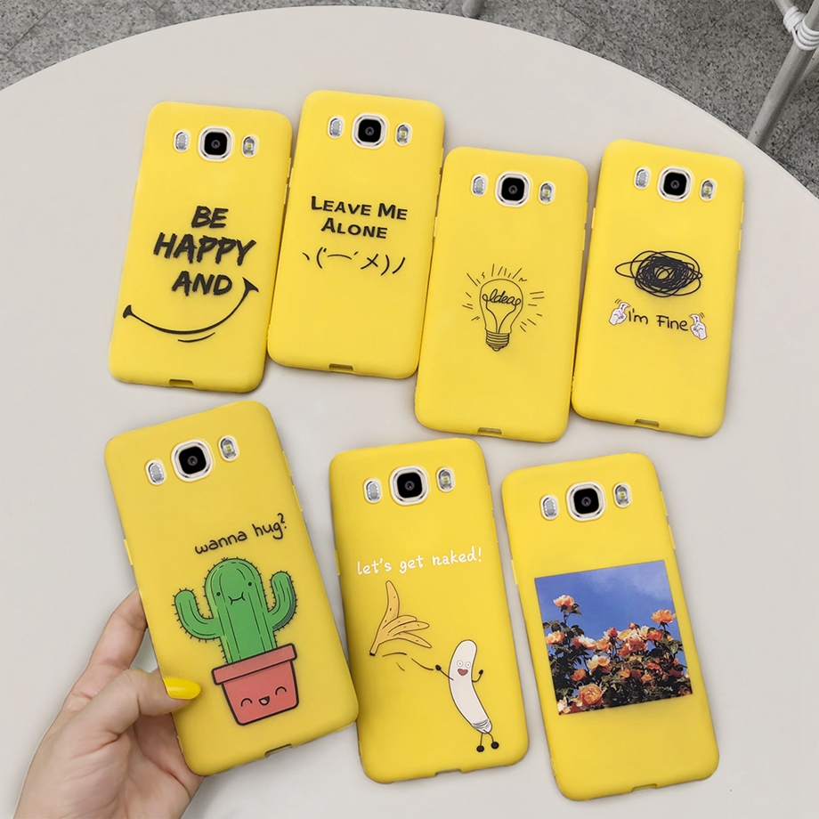 Silicone Cover Phone Soft Candy Case For Samsung Galaxy J5 2016 J510 J510F J510FN cases Samsung J 5 J5 2016 Cover Capa fundas