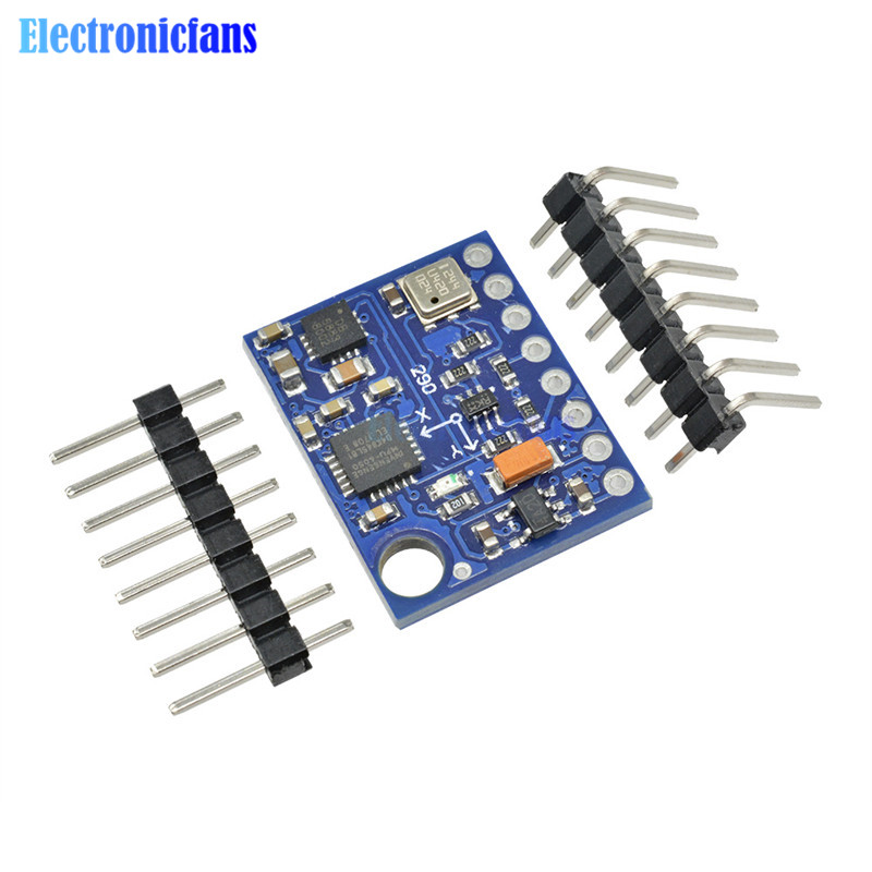 <font><b>GY</b></font>-<font><b>87</b></font> I2C/IIC 10DOF MPU6050 HMC5883L BMP180 Sensor Board Module GY87 For Arduino 5V Power Built-in Filters High Accurancy image