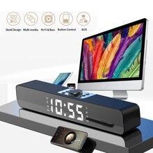 Rsionch светодиодный Дисплей ПК Динамик ТВ звуковая панель будильник