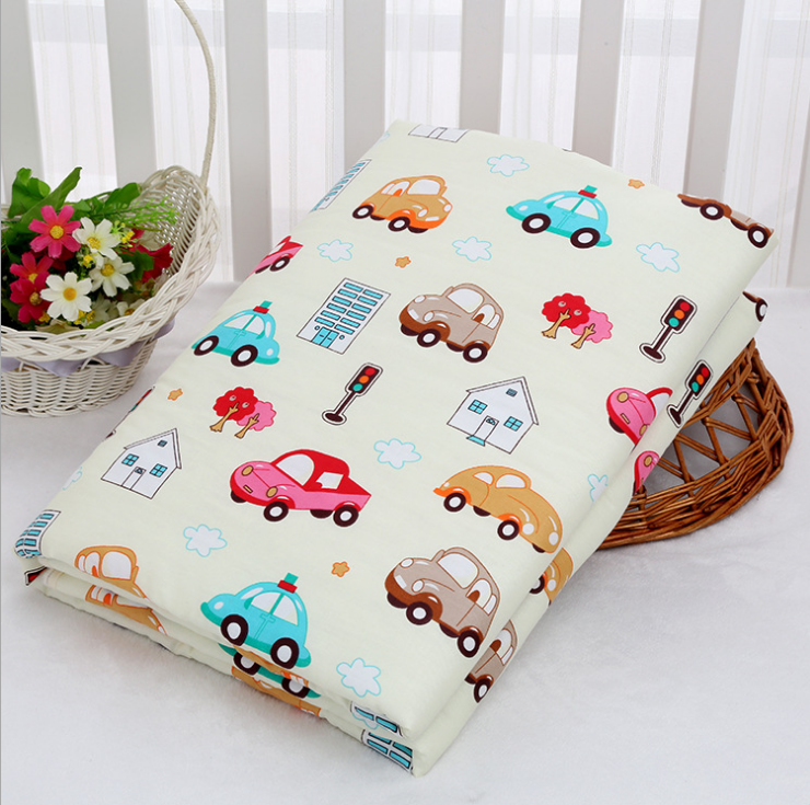 Baby 3 Layer Change Pad Outer Layer Pure Cotton Middle Absorbent Bottom Waterproof Nappy Diaper Crawling Mat Rugs