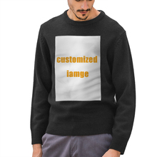 NOISYDESIGNS Custom Sweater Men Streetwear Customized Pattern Hip Hop Autumn New Pull Over O-neck Oversize Casual Men's Sweaters