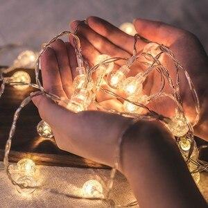 Image 1 - Светодиодная гирлянда с гипсофиловыми шариками, праздничное освещение, Сказочная гирлянда с аккумулятором для помещений, украшения для рождества, свадьбы, вечеринки