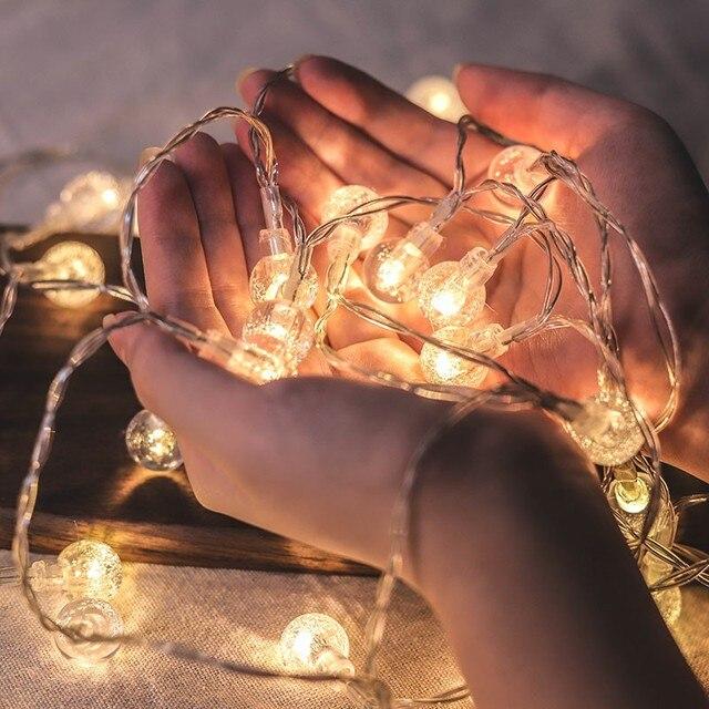 LED guirlandes lumineuses avec gypsophile boule à bulles éclairage de vacances fée guirlande batterie intérieure pour noël fête de mariage décors