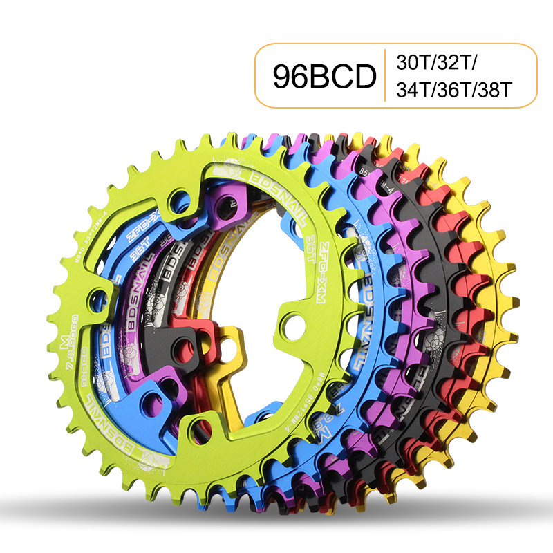 BDSNAIL 96BCD 30T <font><b>32T</b></font> 34T 36T 38T for M7000 M8000 M9000 Aluminum Alloy Chainwheel MTB Bike Road Bicycle image
