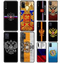 Russia Flag national emblem Case for Samsung Galaxy A50 A51 A70 A71 A10 A20 A30 A40 A11 A21s A31 A41 TPU Soft Phone Cases Cover(China)