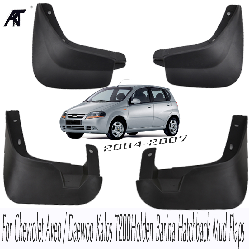 Mud Flaps For Chevrolet <font><b>Aveo</b></font> 5 Holden Barina TK Pontiac G3 Wave Hatch <font><b>T250</b></font> 2008 2009 2010 2011 Mudflaps Splash Guards Mudguards image