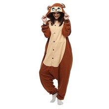 Monkey Unisex Adult One-Piece Pajamas Cosplay Onesies Cartoon One-piece Animal Sleepwear for Pyjamas Christmas Costume
