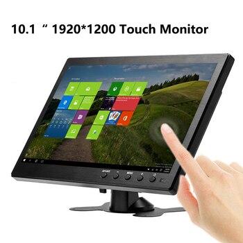 10,1 дюймовый 1920x1200 портативный монитор для PS3/PS4 XBOX360 Raspberry Pi система видеонаблюдения с VGA HDMI BNC USB сенсорный ЖК-экран