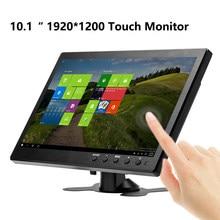 10.1 Polegada 1920x1200 monitor portátil para ps3/ps4 xbox360 sistema de raspberry pi cctv com vga hdmi bnc usb tela de toque lcd