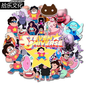 50 pcs/Packc Cute Cartoon Steven Universe Stickers Car Phone Travel Luggage Trolley Laptop Computer Sticker Toy image